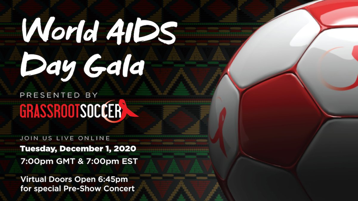 The time is now. The need is great. I'm proud to join @GrassrootSoccer at our virtual #WorldAIDSDay Gala to Unite for Hope on Dec. 1! Together, we're empowering adolescents to be agents of change in their own communities. Click the link for more info ➡️