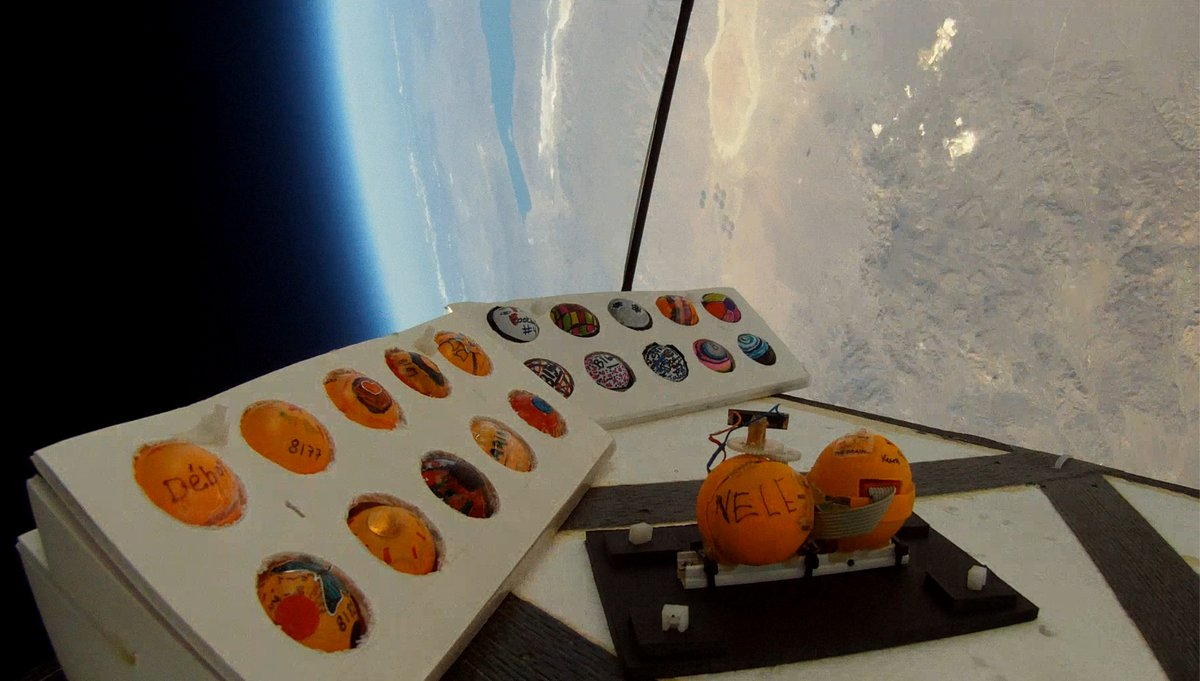 Students are explorers too. PongSats student payloads at the edge of space.  #wednesdaythought #WorkIt
