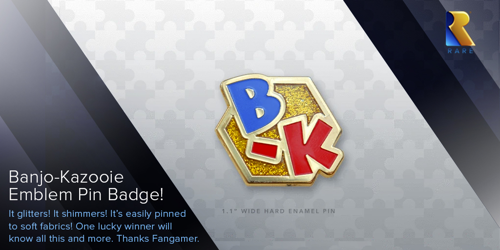 Look at this shiny @Fangamer B-K pin badge. Good, now read the following #WinWednesday terms through which one person will earn said collectable: like this post and reply telling us your favourite character from any Banjo game. Random winner chosen at 5pm GMT tomorrow, Nov 26th.