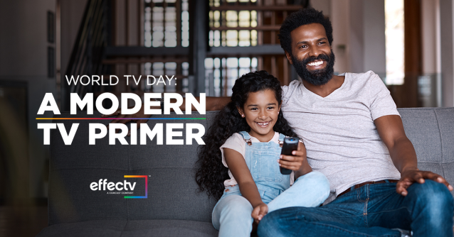 """Learn all about the history of #WorldTVDay (11/21), how viewers define """"TV,"""" and the range of ways viewers can access TV today. #EffectvInsights @WorldTVDay @effectv #EffectvEmp"""