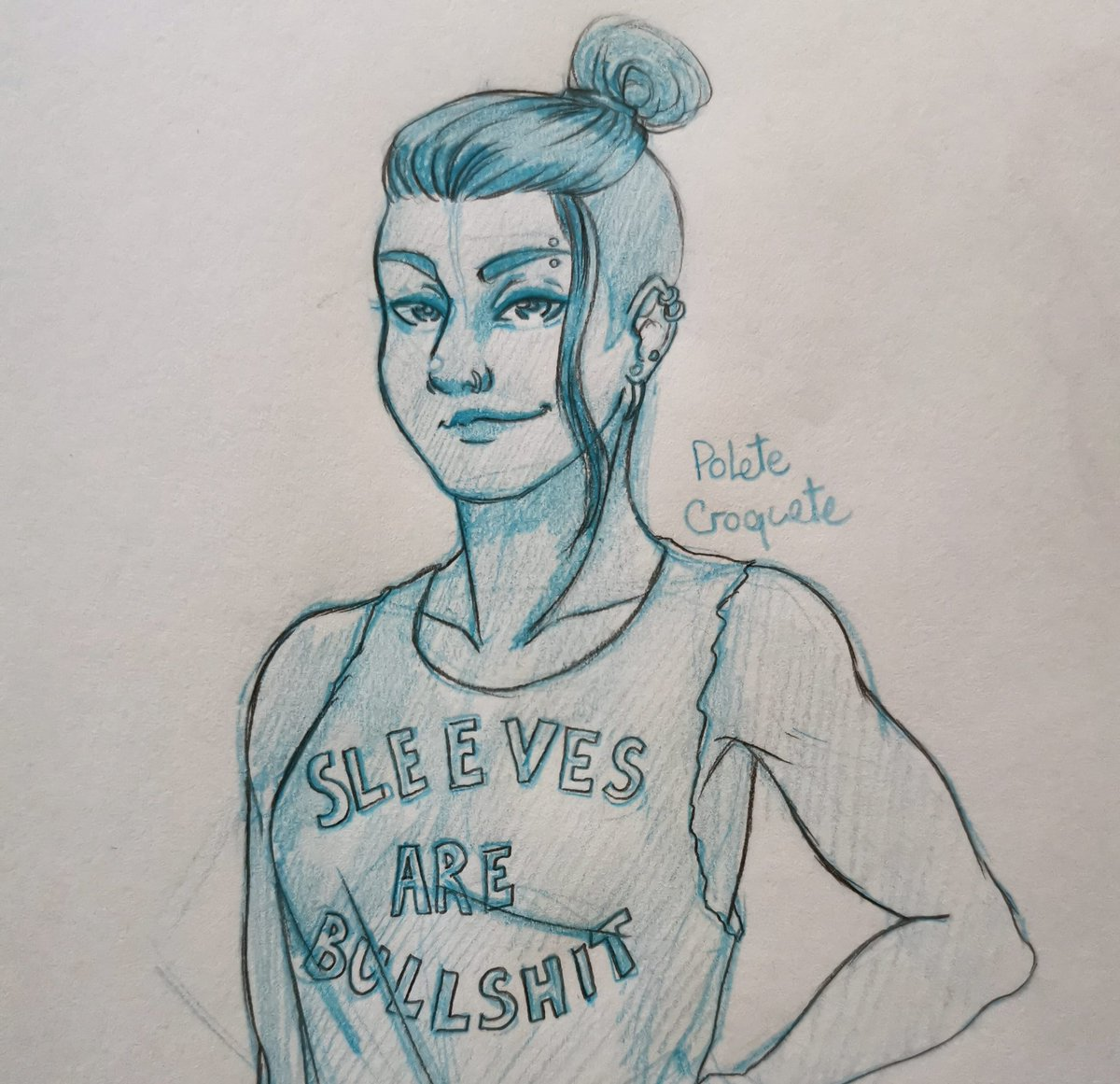I imagine Beau just ripped the sleeves off of some normal t-shirt and wrote that herself #criticalrolefanart #CriticalRoleArt #criticalrole #art #fanart #dnd