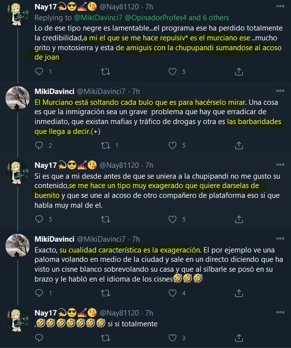 """Pues parece que """"el culto"""" ahora la ha tomado con @MurcianoUn . Venga, que vamos para bingo. https://t.co/NiQFENrlW9"""