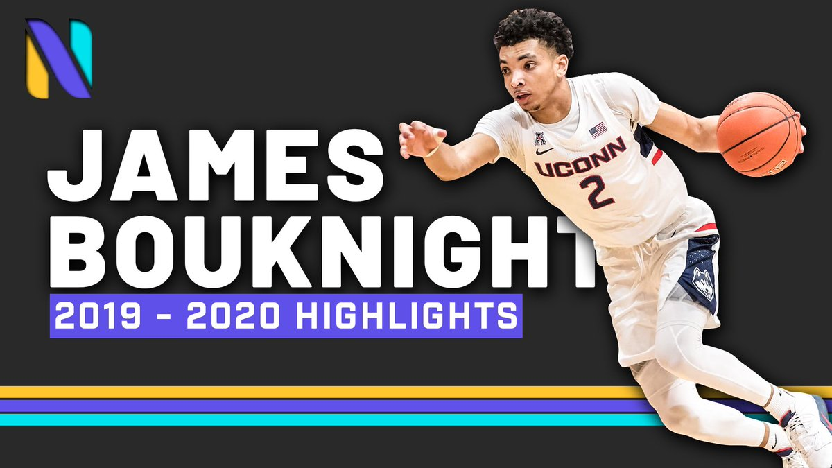 Big East Player of the Year candidate & 2021 #NBADraft prospect James Bouknight (@jam3s210) is poised for a breakout season for the UCONN Huskies.   📝AAC All-Conference 3rd Team 📝All-Freshman Team 📝13 PPG | 4.1 RPG  ⬇️Named to Naismith Trophy 👀 list :