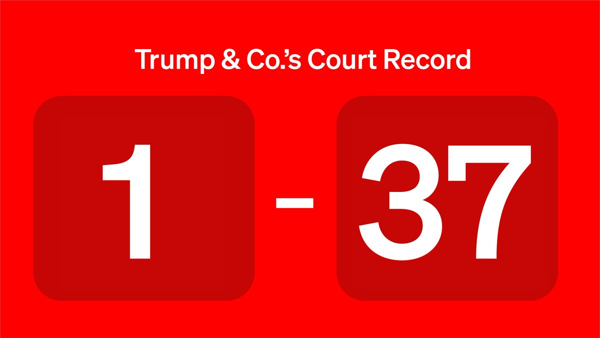 Replying to @DemocracyDocket: Looking forward to our turkey with a side of 37 victories🍗