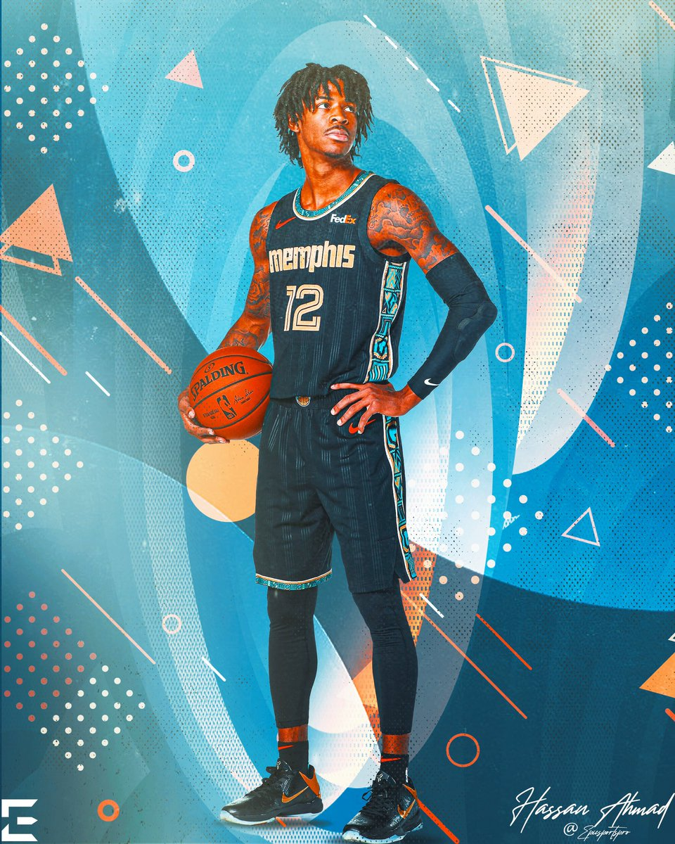 .@JaMorant in the new @memgrizz city jersey threads! I love how these jerseys are 🔥 #FanArtFriday #grindcity #jamorant #NBATwitter #GrzNxtGen  Please tag @JaMorant below for me ⬇️ https://t.co/T9ArQcolFO