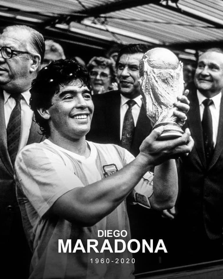 R.I.P Diego Maradona #Maradona60 #RIP #Argentine #foodamusical #LegendDiegoMaradona #D10S #Grande #Gracias #Maradona60 💔