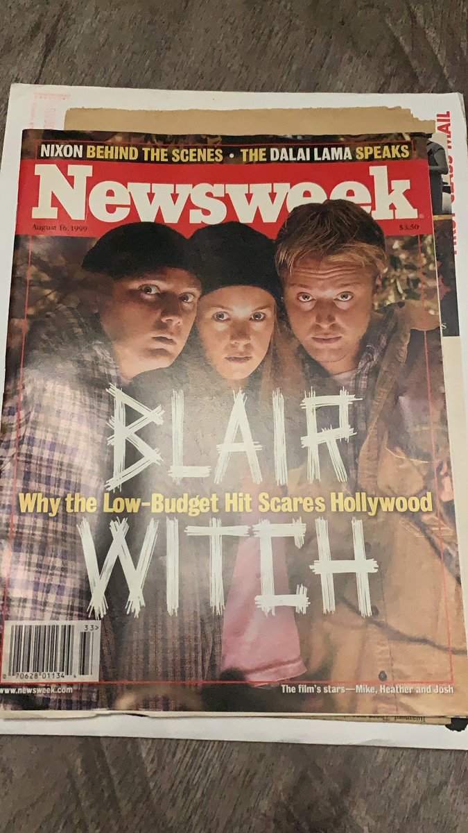 I found my 1999 mag of one of my favorite movies! #blairwitch #theblairwitchproject #bestmovies #horror #theoriginater #eduardosanchez #classic #movies https://t.co/KiLTcZMh9X