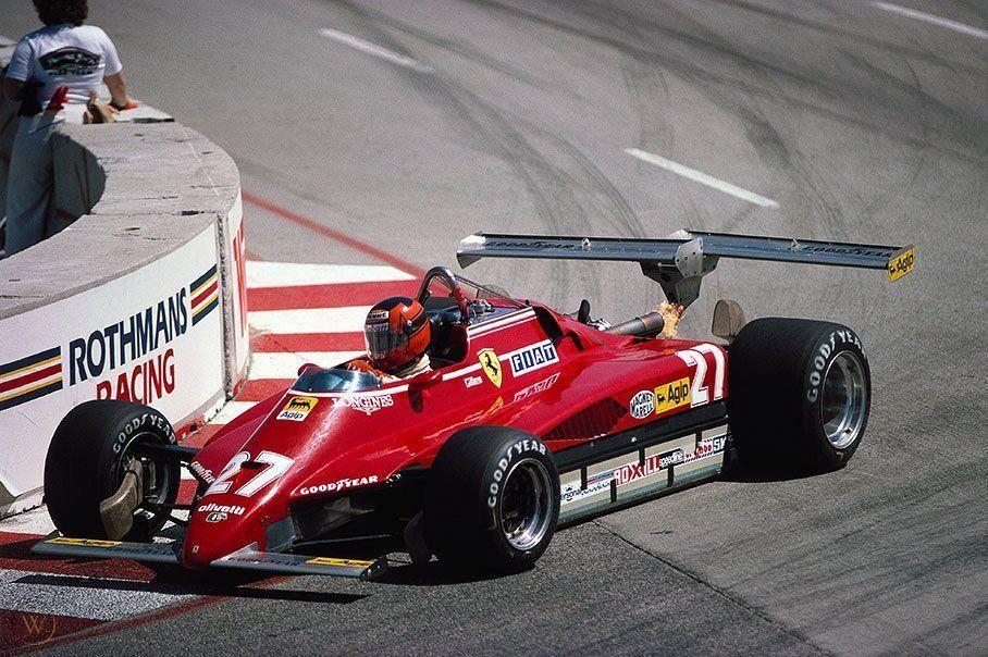 #WingWednesday #USA West GP #LongBeach 1982 #Ferrari 126C2 Gilles Villeneuve DSQ, Illegal Rear Wing https://t.co/0tIMH6FhIn
