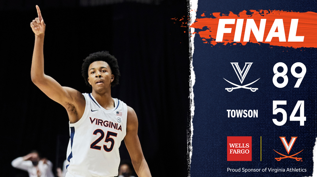 HOOS WIN!!! 3⃣ players in double-figures to lead Virginia past Towson in the season-opener!  🔶⚔️🔷 #GoHoos https://t.co/sDVCARDcgy