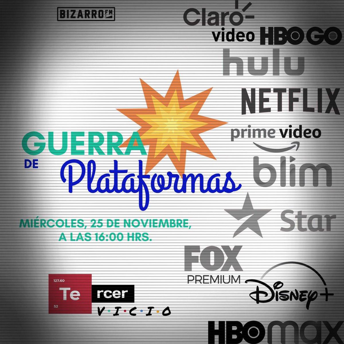 Oficialmente #DisneyPlus llegó a México para entrar al campo de batalla. Hoy estaremos platicando sobre esta plataforma y sus principales rivales.    Nos escuchamos sólo por @bizarrofm    #SurgeIndependiente #BizarroSigue #Netflix #Amazon #HBO #Radio