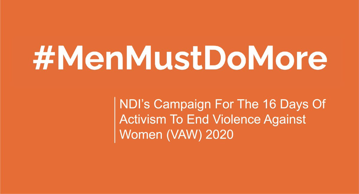 @JesperStromback #MenMustDoMore is the message from ➡️ @NDI @NDIWomen