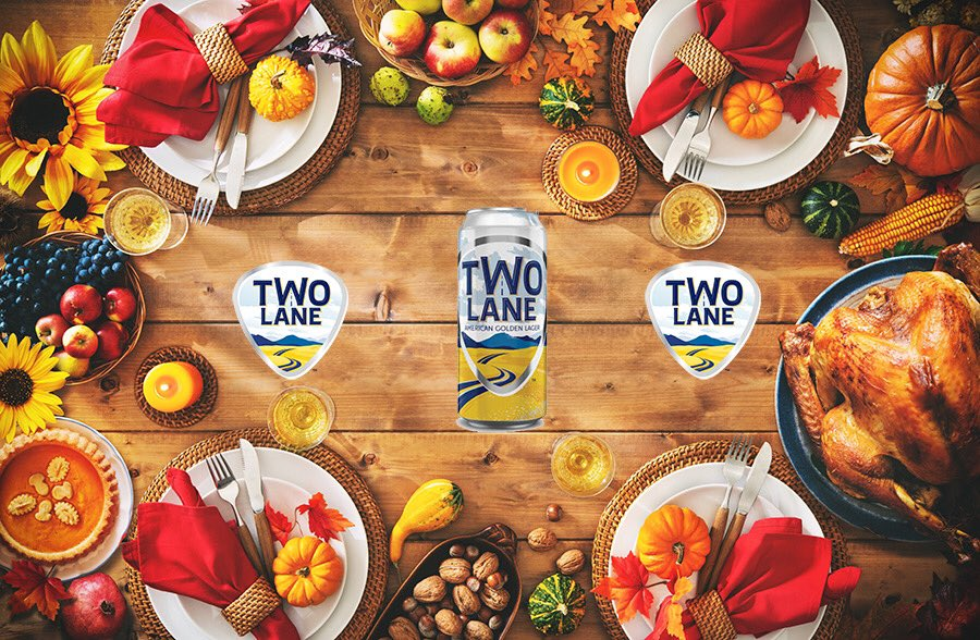 The holidays are about spending time with family. Two Lane Brewing reminds us that home is a feeling not a place. Every can brings you home. So, on this Thanksgiving Eve go home for the holidays with Two Lane. #twolanelager #Thanksgiving2020 #holidayseason #lager