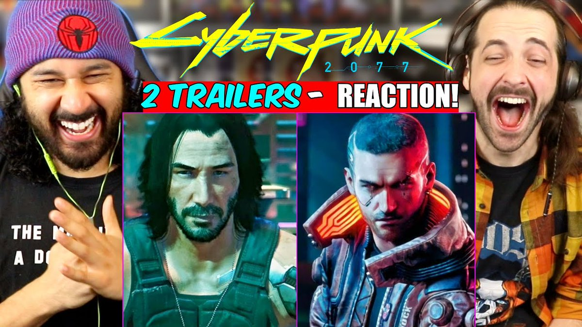 CAN IT PLZ BE DECEMBER 10th already?!?  Here's our REACTION to the Official #GameplayTrailer + a li'l #KeanuReeves action from #Cyberpunk2077:   Sound off if you got your pre-order in!! . #JohnnySilverhand #CDProjekt #Playstation5 #XBoxSeriesX #CyberPunk