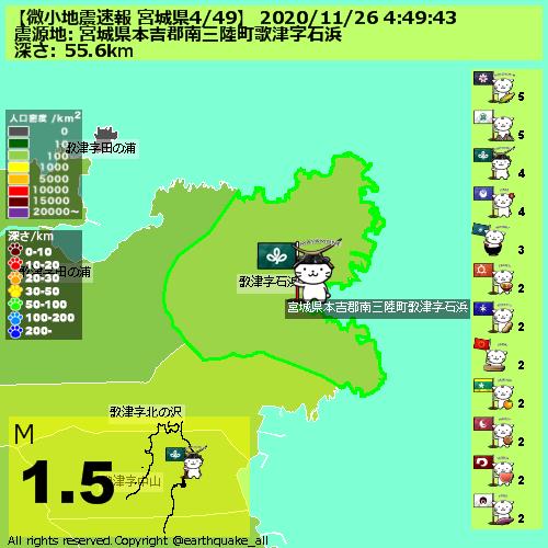 地震 速報 宮城 県