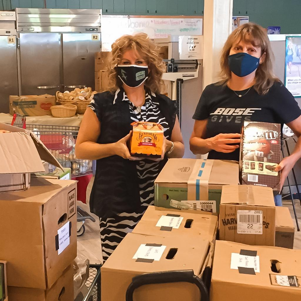 With most of Bose employees still #WFH, there was an abundance of nonperishable food in our cafeterias. Bose's own Liana Vincini and Cindy Baer lead the charge to donate thousands of lbs of food to 8 local orgs to help families in need. Thank you both! #TeamBose #TisTheSeason