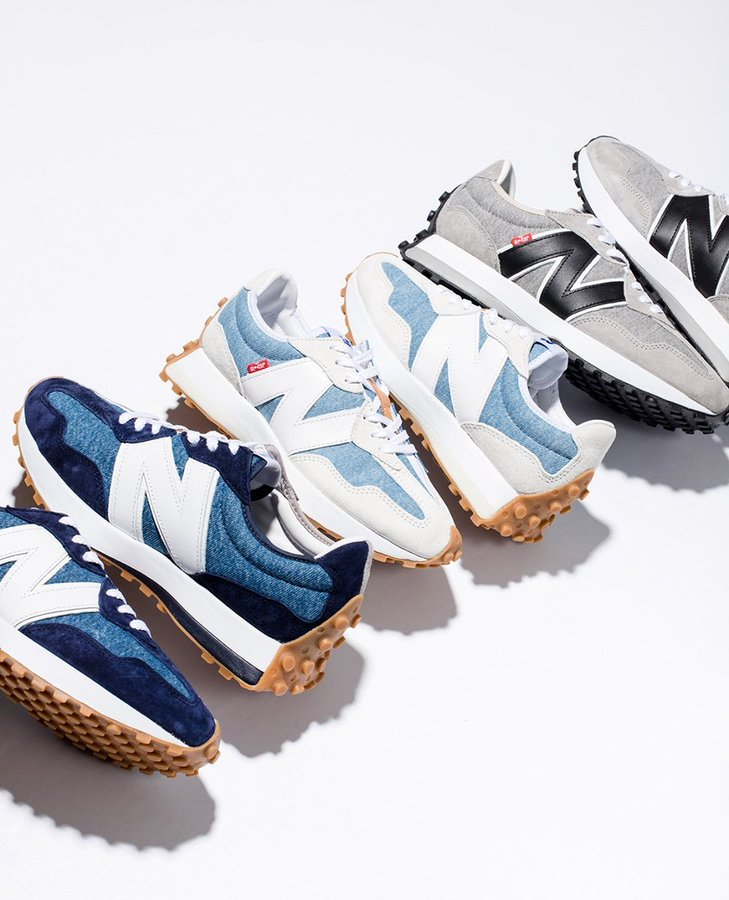 Ad: Levi's x New Balance 327 restocked today in most sizes via SNS => https://t.co/6mQcI7gjuA https://t.co/tWECtTX3HN