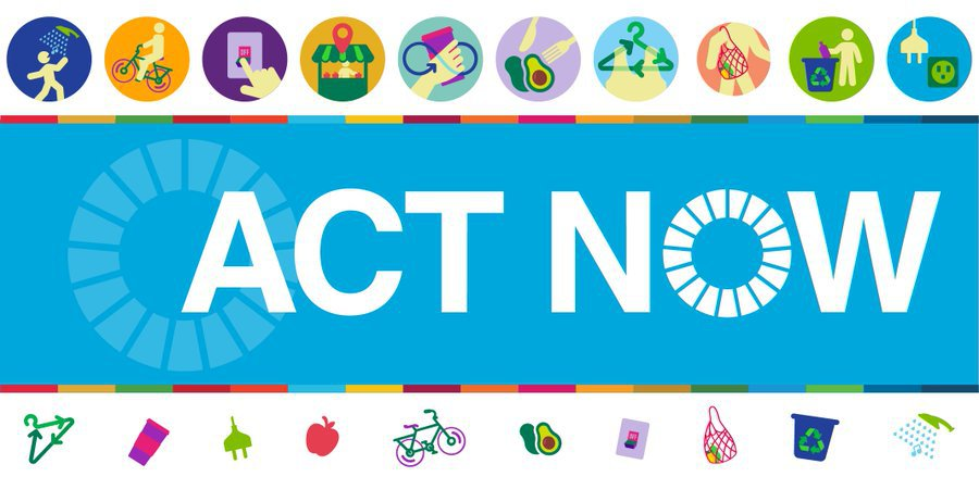 Each and every one of us has to #ActNow to tackle the climate emergency.  People from around the world have already logged more than 1 million of their #ClimateAction activities.  Join the movement: