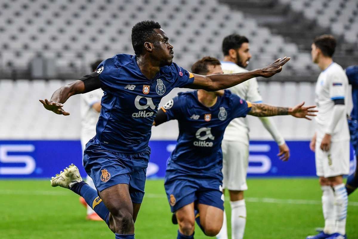 🔵⚪️ Zaidu Sanusi on target for Porto in Group C ⚽️  #UCL https://t.co/h29GIgTpLa