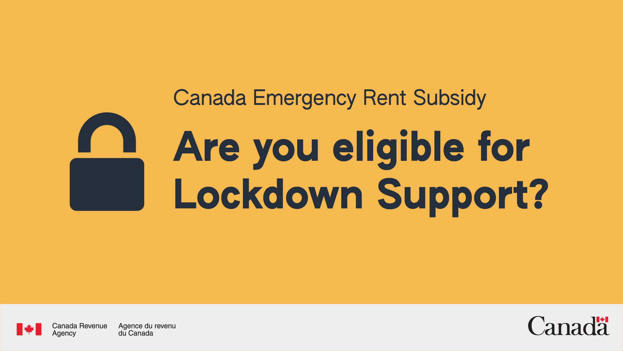 """Canada Emergency Rent subsidy """"Are you eligilbe for Lockdown Support?"""""""