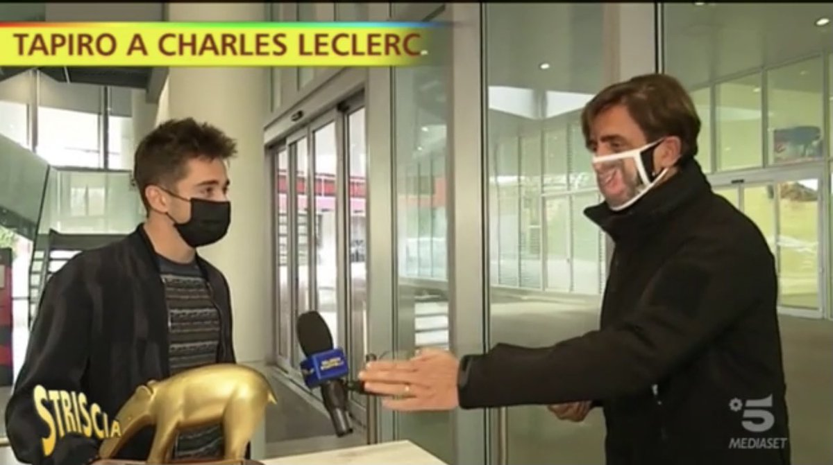 ". @Charles_Leclerc when he received the Tapiro d'Oro trophy: ""Does it really bring luck?""  Yes it does!  Charles: ""I'll put it in the car!""  🤣  #F1 #Charles16 https://t.co/i2RjfyIZAX"