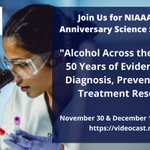 Image for the Tweet beginning: NIAAAnews: Join us to learn
