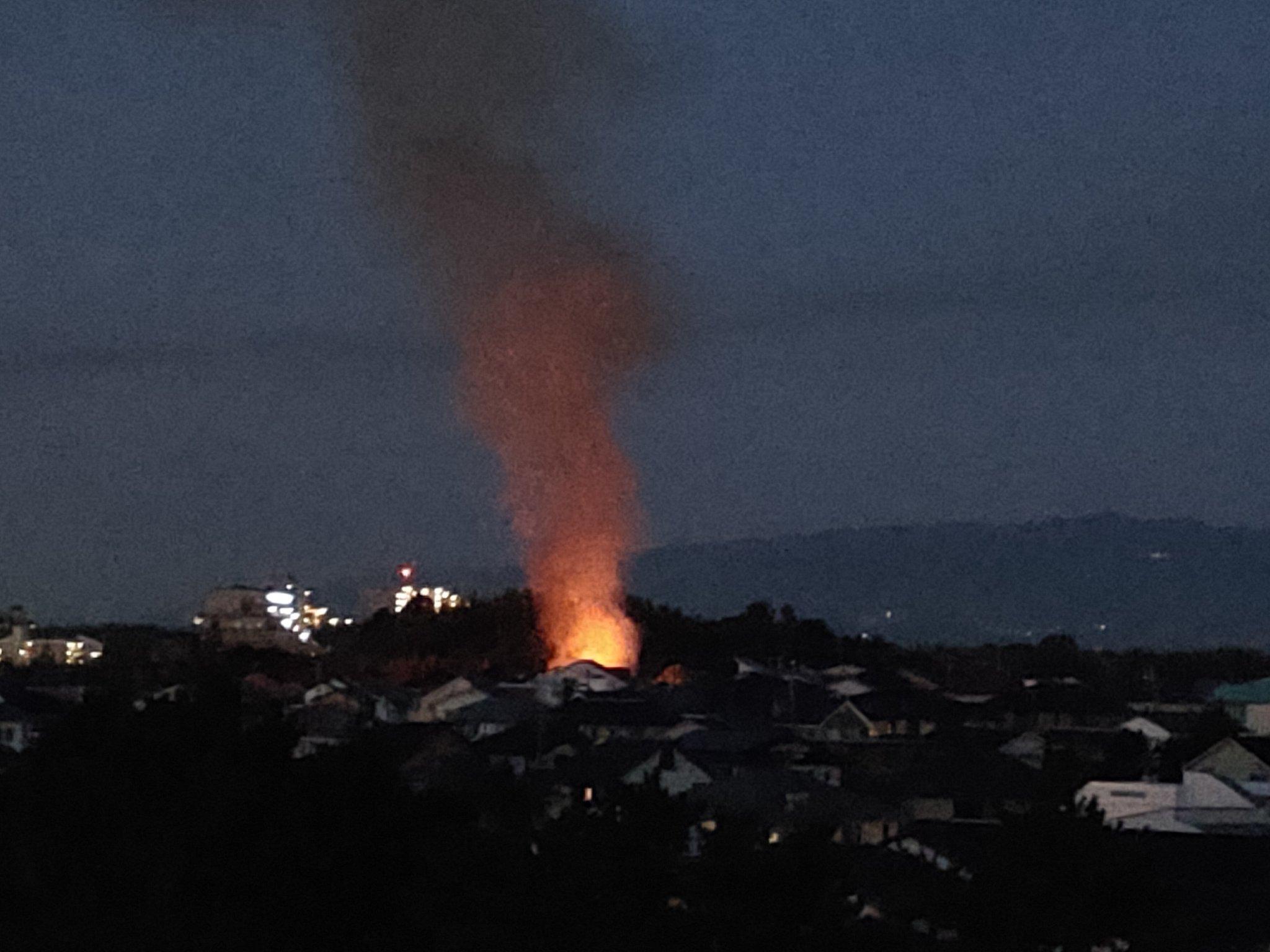 画像,桃山台で火事  #桃山台 #火事 https://t.co/oM7RcDLQpY。