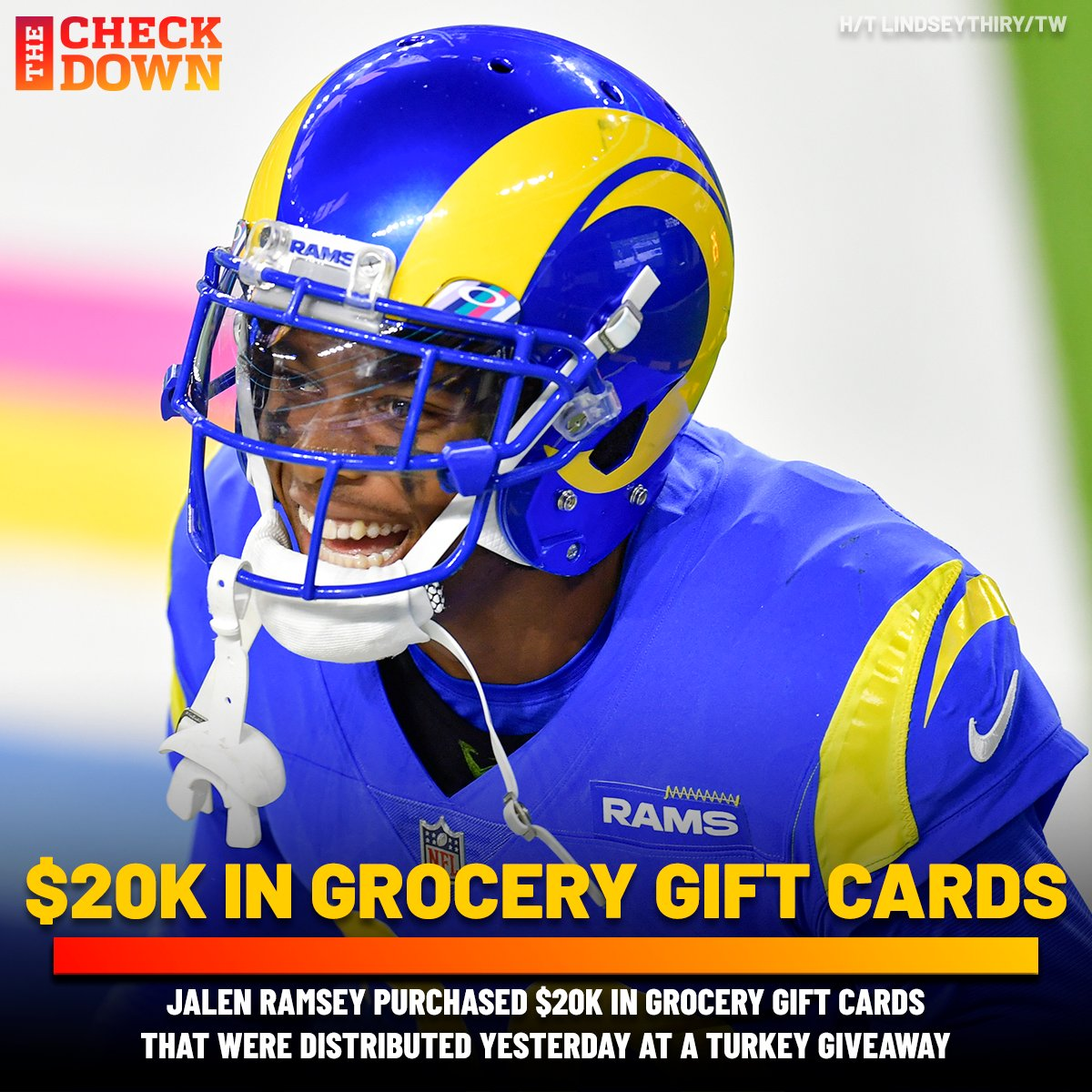 Jalen Ramsey is making plays on and off the field this holiday season 🙏