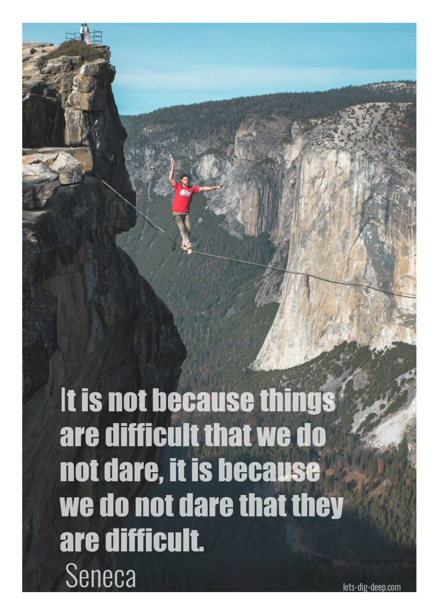It is not because things are difficult that we do not dare, it is because we do not dare that they are difficult. - Seneca #InspirationalQuotes #Quotes Pic Casey Horner https://t.co/PH5BRqRCJK