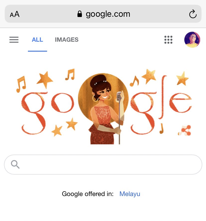 It's #Saloma #Googledoodle today.  Always love this #Queen her voice are so iconic. 😌