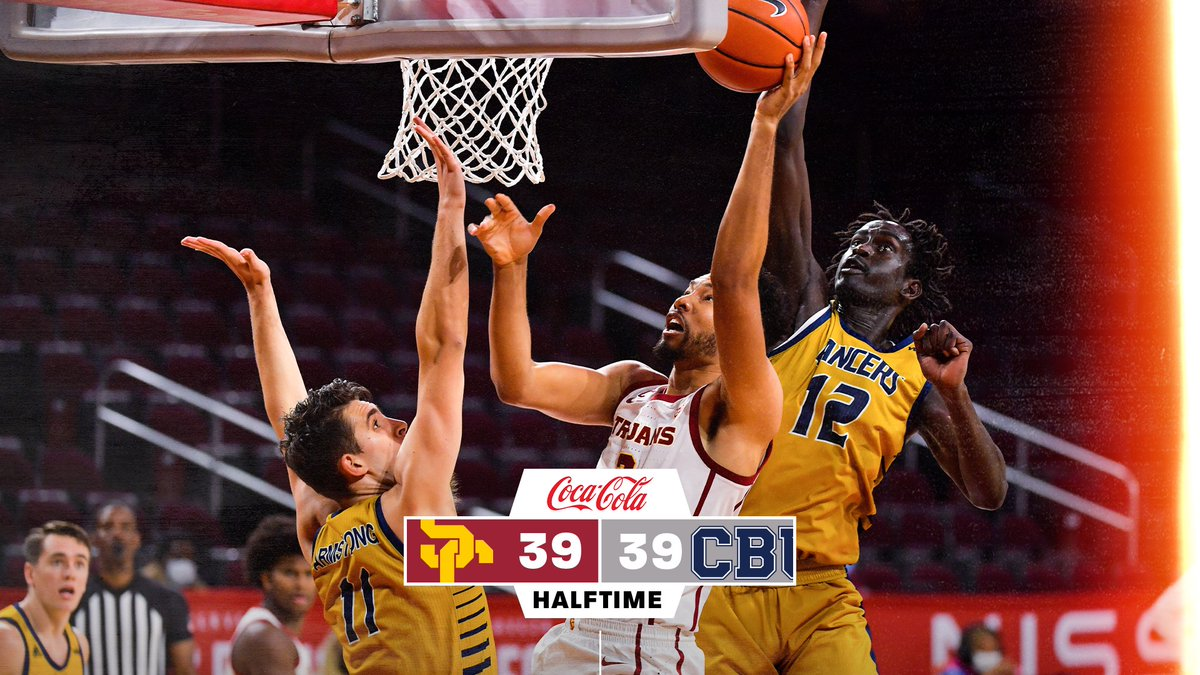 HALFTIME: USC 39, CBU 39  All knotted up after the Trojans' first half of the season.