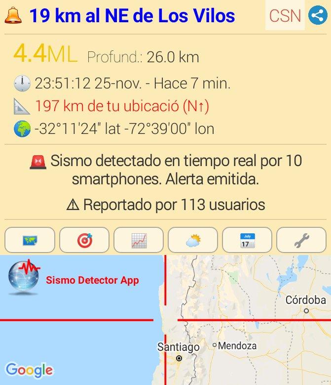 #sismo M4.4,  19 km al NE de Los Vilos. Reportado a través de la app Sismo Detector. Descarga la app desde https://t.co/hSJtElf4nY para recibir alertas de #sismo en tiempo real @SismoDetector https://t.co/hUkr7gLsnJ