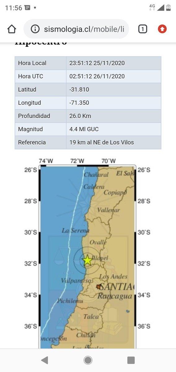 Sismo de magnitud 4.4  a 19 kms al NE de Los Vilos https://t.co/16iXPveoKl