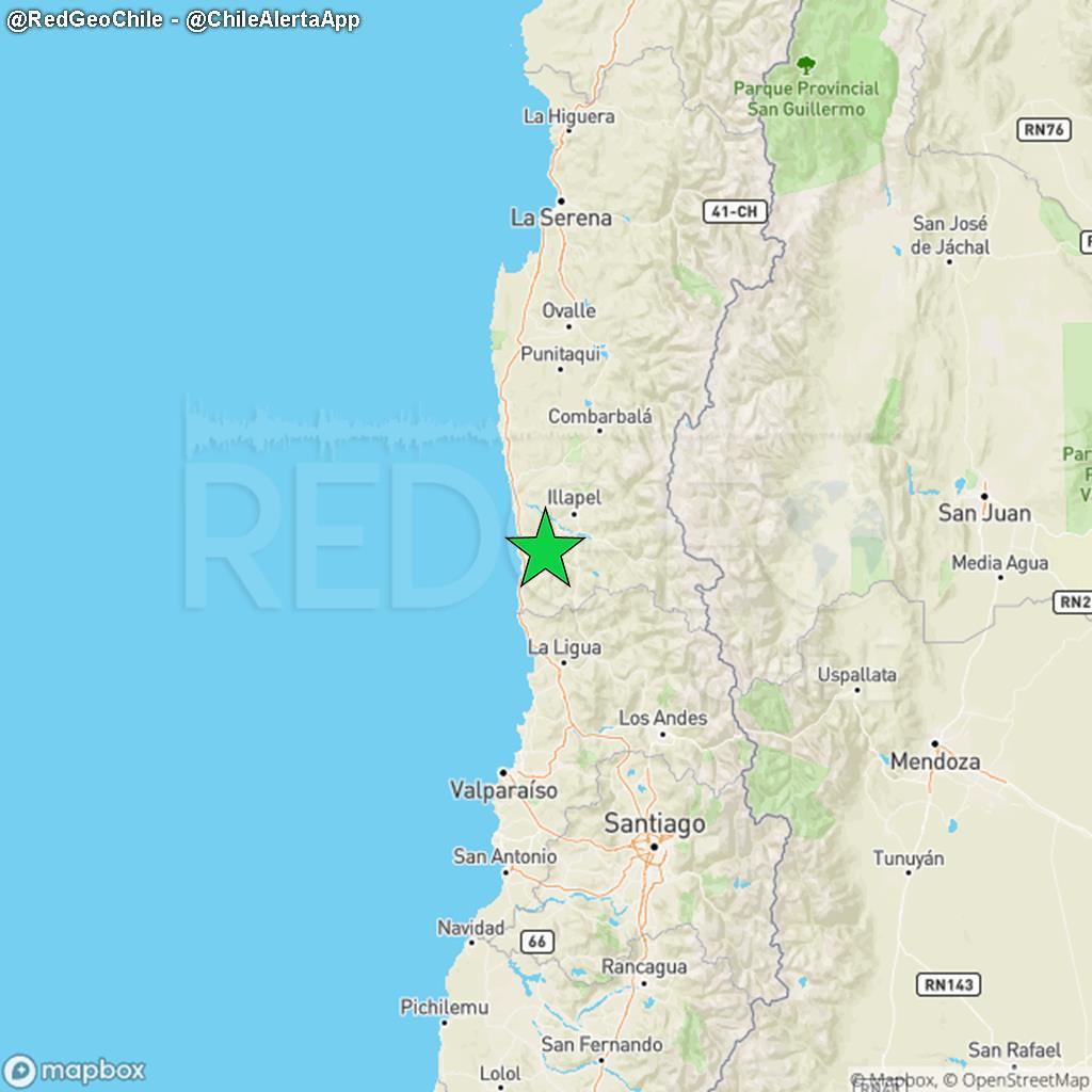PRELIMINAR ⚠️ | Sismo de magnitud 4.4 Richter ocurrió a las 23:51:12 del Miércoles 25 de Noviembre a 19 km al noreste de Los Vilos, a una profundidad de 26.0 kilómetros (Fuente: #CSN).  ¿Percibiste el sismo? ¡Repórtalo aquí!: https://t.co/qvr4ZVxfOz https://t.co/400Cl0QGzq