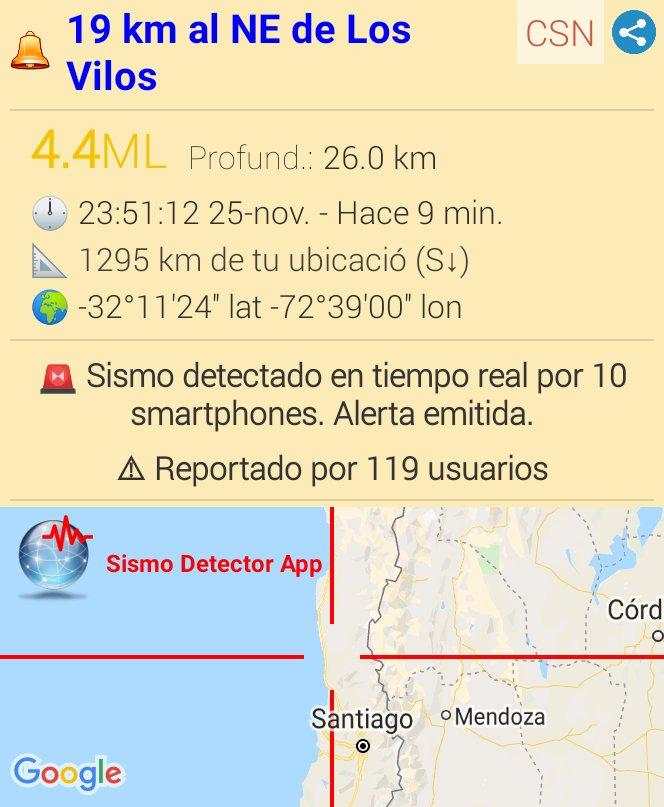 #sismo M4.4,  19 km al NE de Los Vilos. Reportado a través de la app Sismo Detector. Descarga la app desde https://t.co/7lEaWyMkQy para recibir alertas de #sismo en tiempo real @SismoDetector https://t.co/XZn7d8wrvT