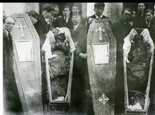 #OnThisDay 1920 Harry & Patrick Loughnane of Galway were killed by Auxiliaries. Before their death, they were beaten, dragged behind a lorry, had I.V. carved into their skin, shot but not killed. Their bodies set on fire & dumped in an oil filled pond.*Graphic* #Ireland #History https://t.co/VpURLAsbgZ