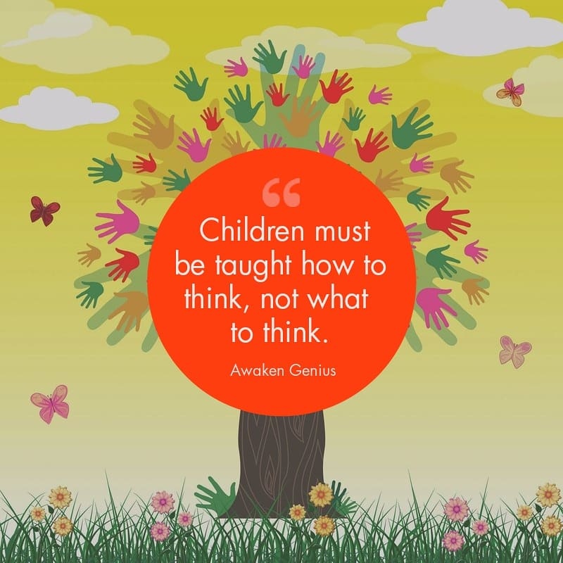 How many adults do you know who feel certain school topics were of no relevance to real life? Awaken Genius teaches children how to grow into thinkers and problem solvers which they can apply to every area of life 🌳 #education #AntiBullyingWeek #bekind #creativelearning