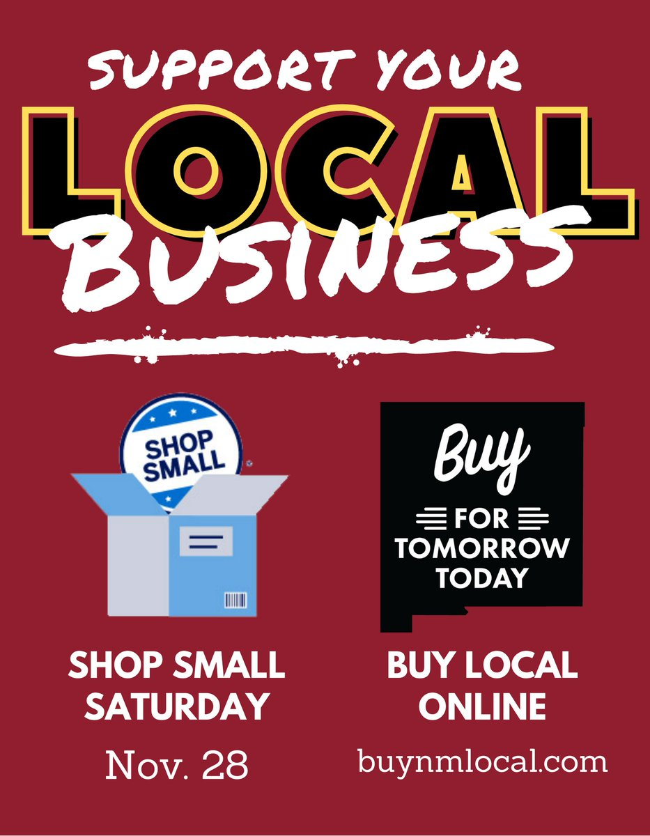 Today is Small Business Saturday and NM Gross Receipts Holiday. Support local business wherever you can and shop online at  #NMEcon