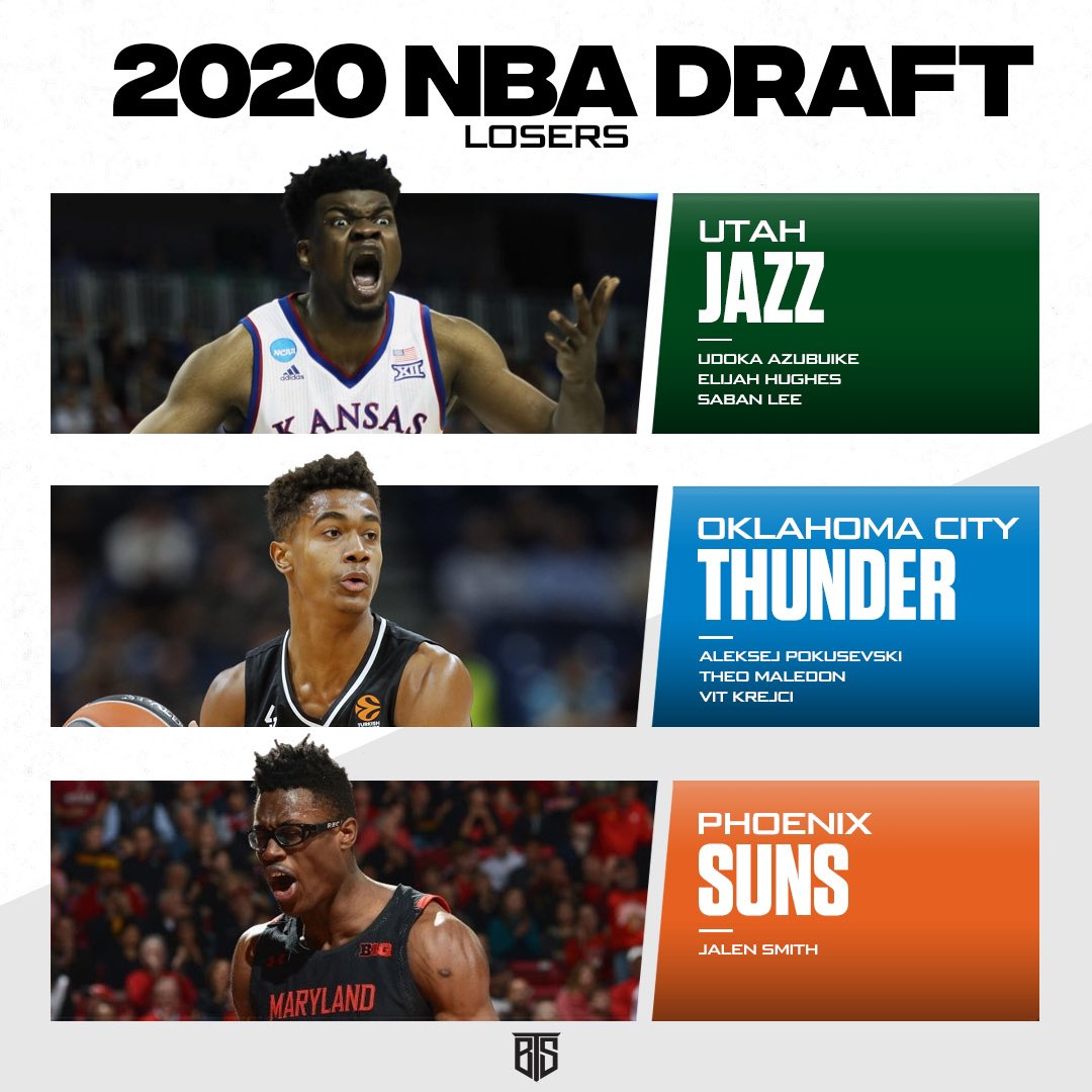 TOP 3 #NBADraft Losers !   - #UtahJazz could've gotten Udoka sooo much lower. #DoBetter - #OKCThunder took a handful of project players. No thanks! - #PhoenixSuns only had one pick.. and they didn't make it count. #NBA #Basketball