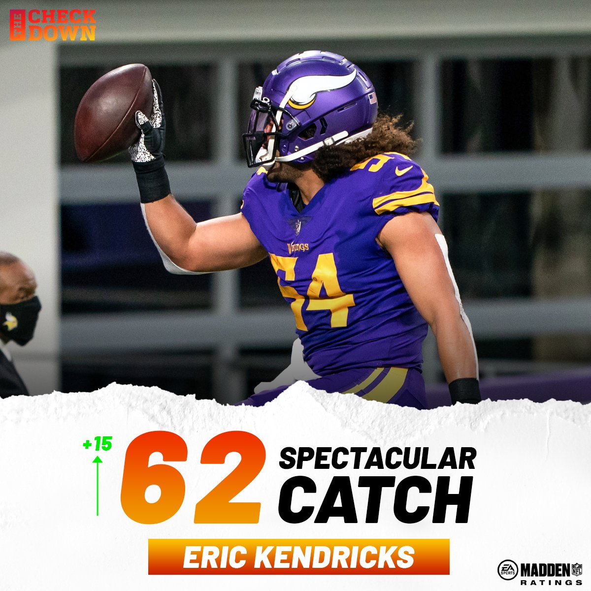 Eric Kendricks' spec catch is going WAY up after his crazy INT 🔥 @EricKendricks54 @Vikings @EAMaddenNFL