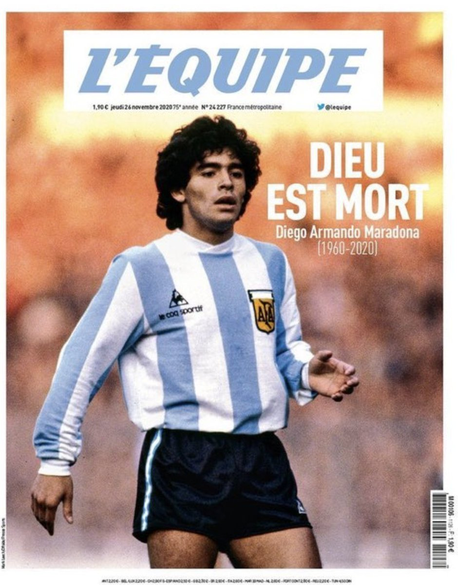 Maradonas influence spanning philosophy, finance and tabloid puns