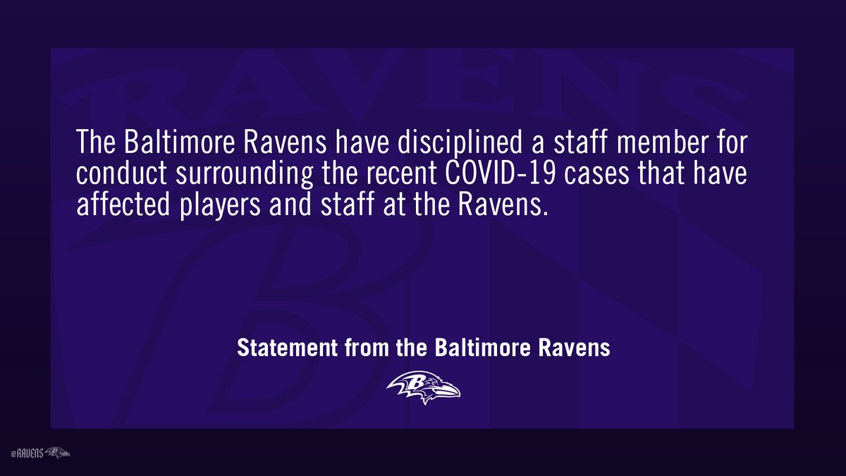 Statement from the Baltimore Ravens.