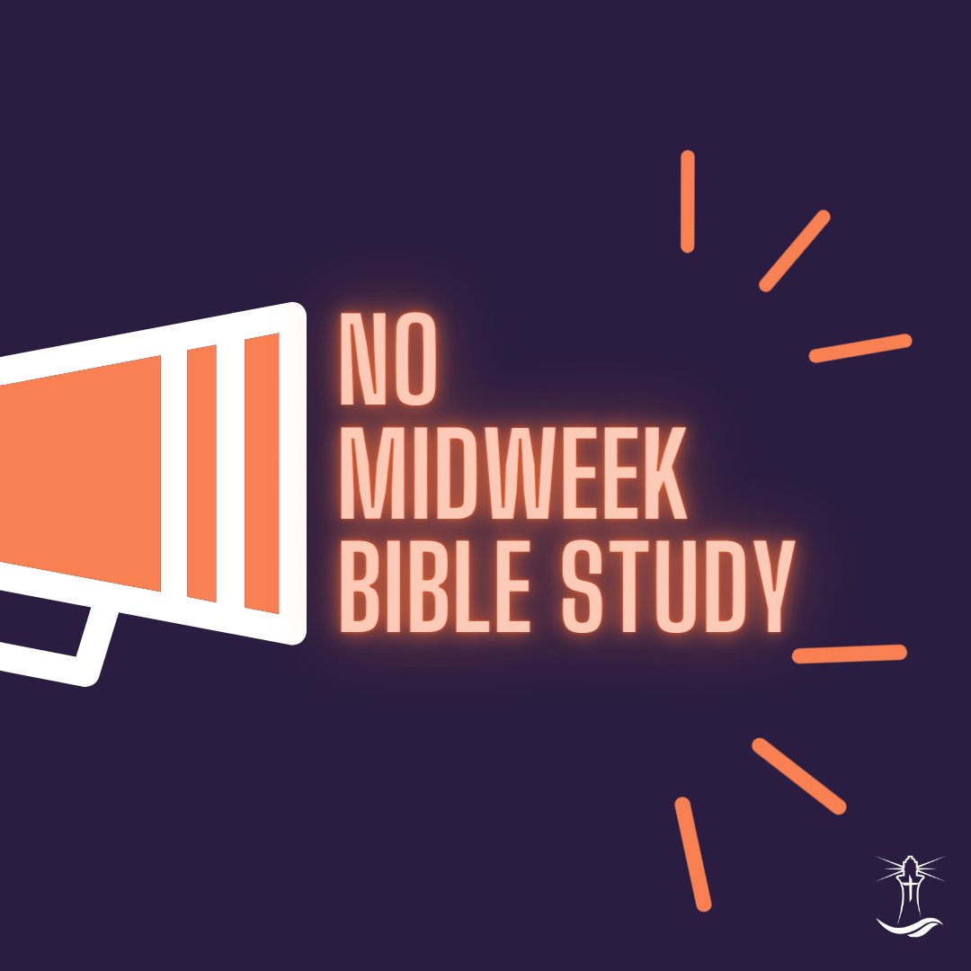 This is your friendly reminder announcement that there will be no midweek Bible study tonight at the church. We'll see you on #Sunday for worship and the final installment of Pastor Stan's Don't Worry series! #northsidemobile