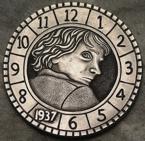 #OTD 11/23/2011 #Film #Hugo based on novel #TheInventionOfHugoCabret  premieres #HoboNickel #CoinCarving by #StephenDCox