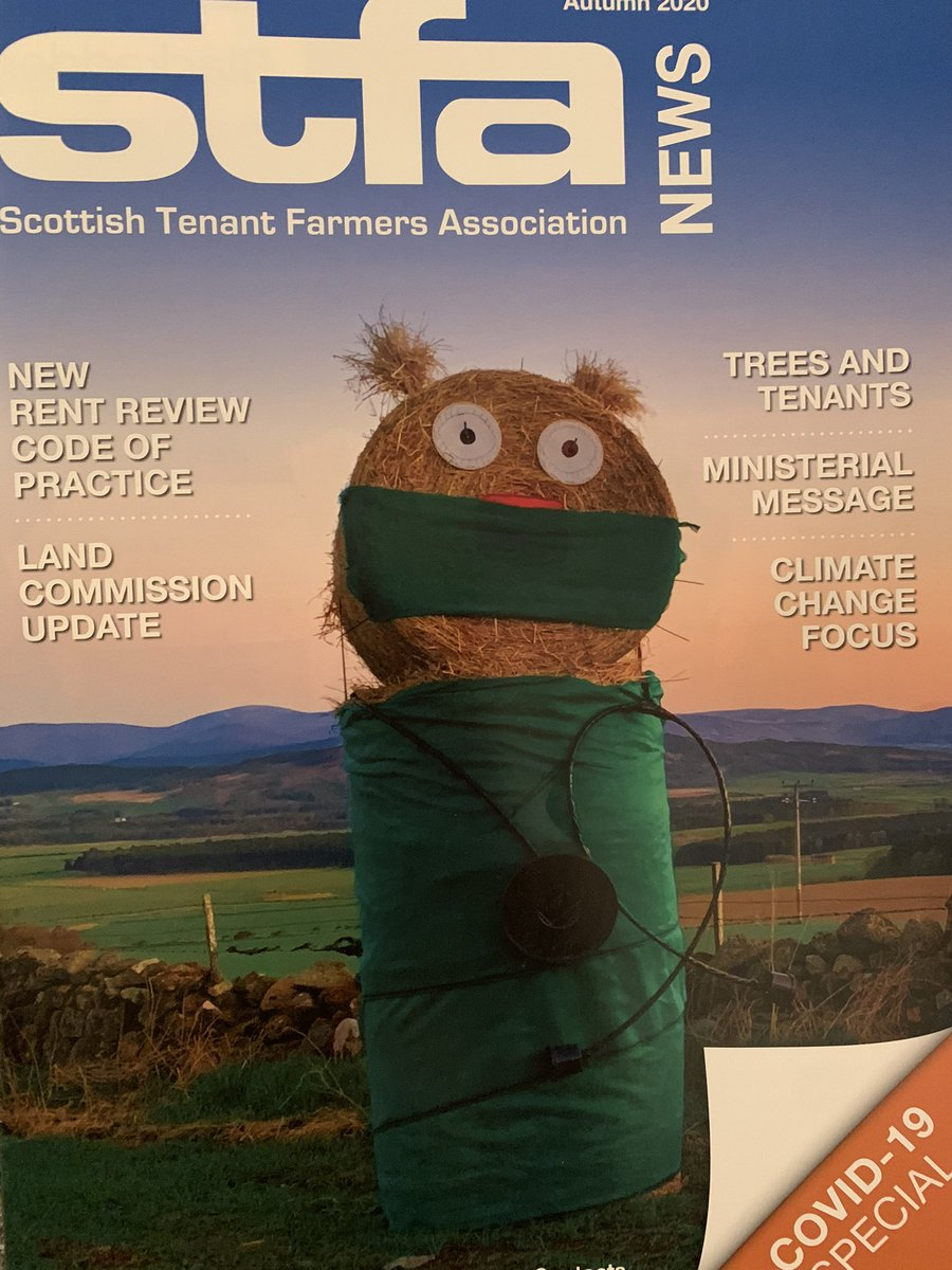 'Nurse Baley' made it as the new cover girl of the Scottish Tenant Farmers Association's latest magazine, while the Ross family got a little mention too! #Covid19UK #keyworkers #Community #Rural #Agriculture