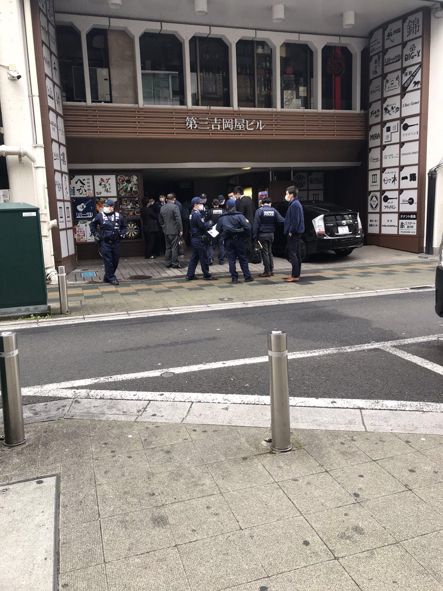画像,分町で事件かな20人くらい警察来てる https://t.co/pDx9dRy4LO。