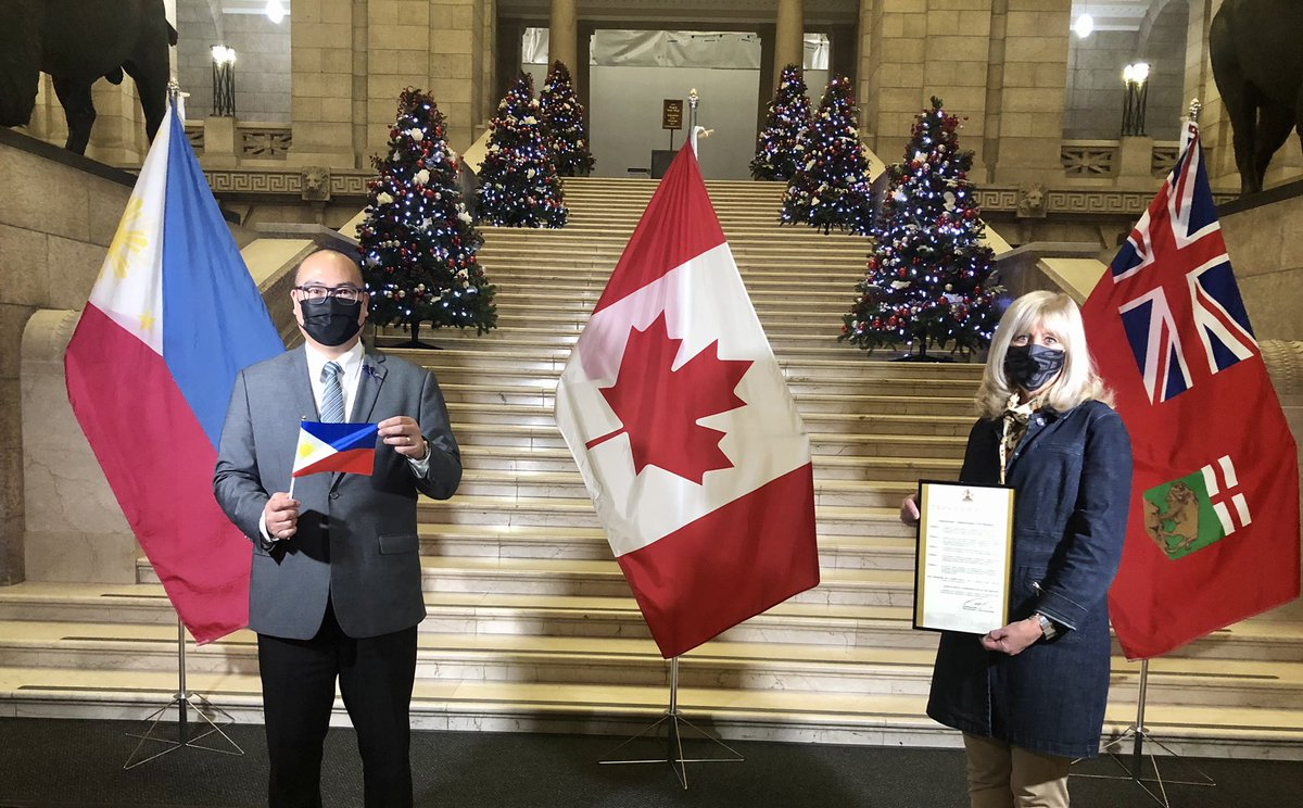 Honoured to issue today's Proclamation recognizing 2021 as the Quincentennial Commemoration of the Philippines. Our Manitoba Government appreciates the enormous economic and cultural contributions our Philippine community provides to our province. 🇵🇭🇨🇦 #PH500