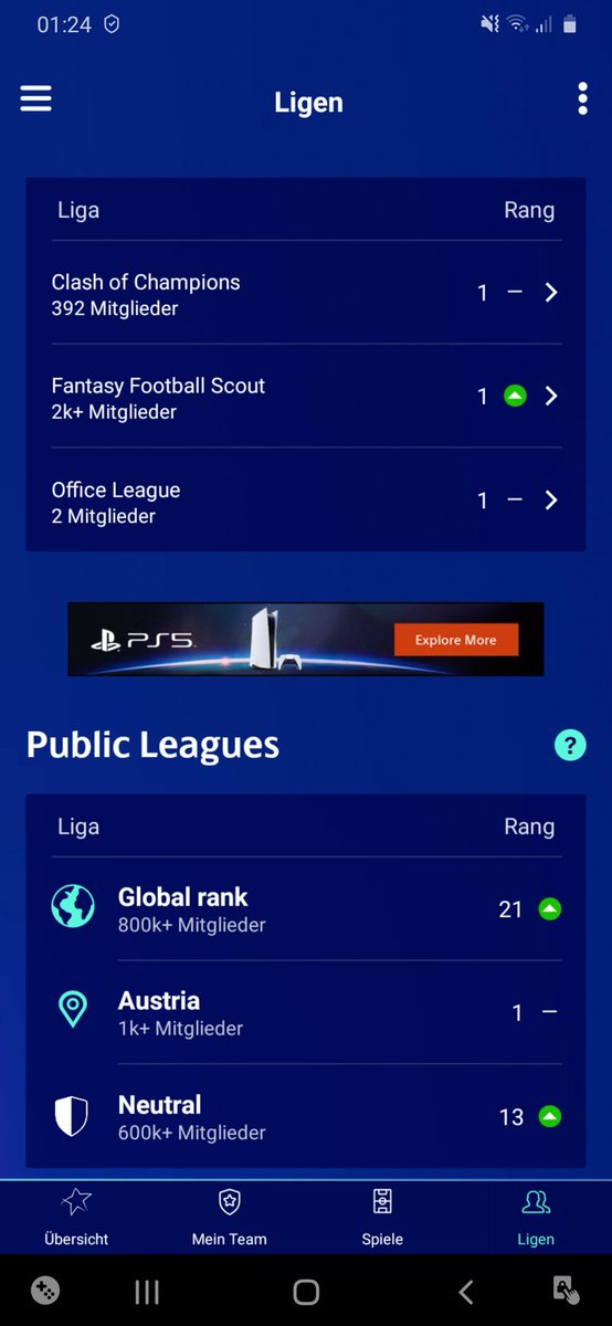 Wasn't bad at all it seems! 😀 Only dropped a couple of places from 7th to 21st 🔥🔥  Only two teams ahead of me with one of the chips still intact 😅  Finally can go to bed now, the wait for the rank update is over 😆   #UCLFantasy #FPLCommunity #FPL #UCL