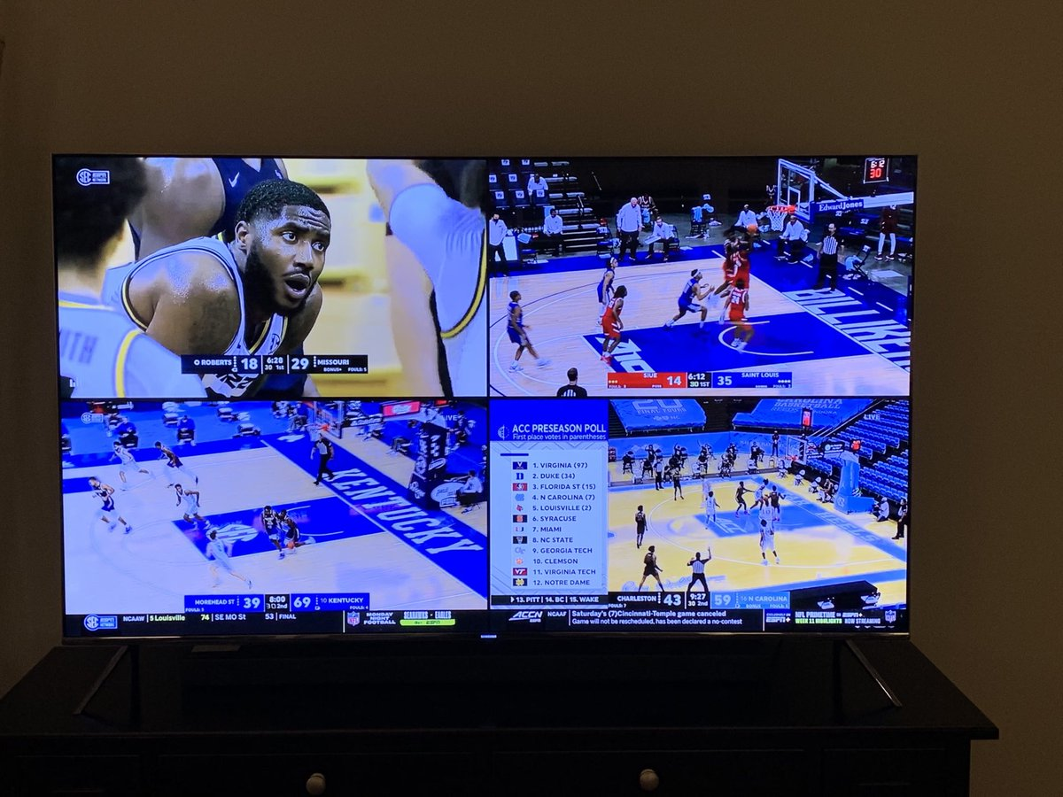 Great to see college basketball!  @MizzouHoops @SaintLouisMBB @KentuckyMBB @UNC_Basketball https://t.co/qVv9UWiLHf