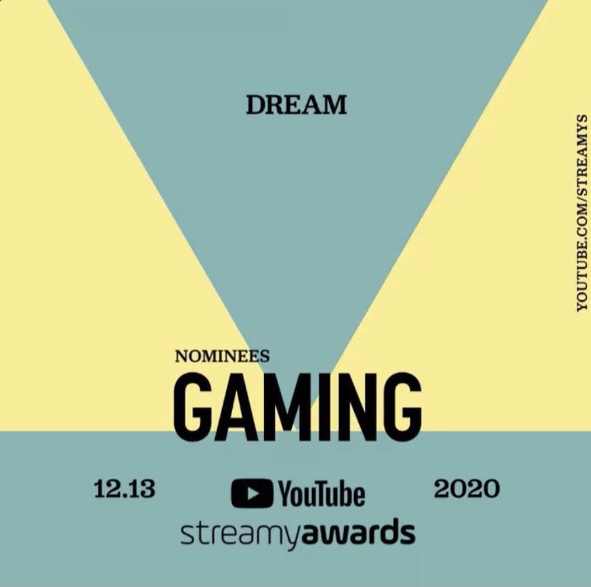 -i voted dream for the gaming award for the  @streamys #votedream  @Dream #votedream
