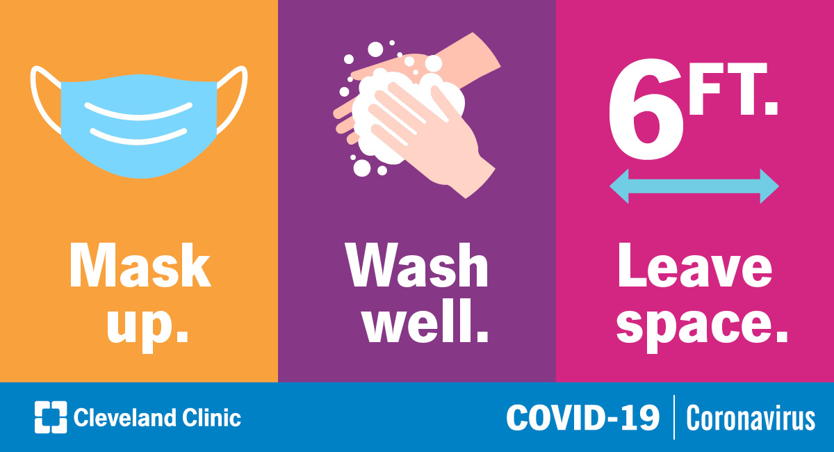 Keeping ourselves and others safe is pretty simple. #MaskUp, wash your hands well and give people around you plenty of space. Let's slow the spread of COVID-19 together.  Up to date coronavirus information: https://t.co/ijjJwe5gv2 https://t.co/K984AvX4Lv